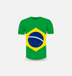 mens t-shirt icon and brazil flag vector image