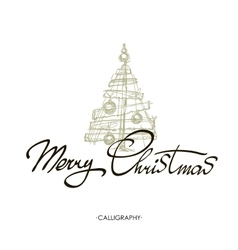 Merry Christmas text design logo vector
