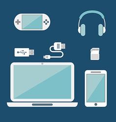 Miscillaneous tech icons vector