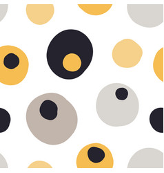 modern seamless pattern with abstract shapes vector image