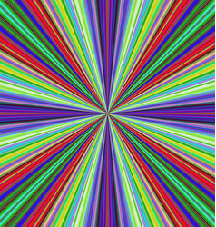 Multicolored ray burst motion background vector image