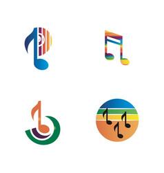 music logo icon vector image