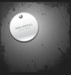 New metal stainless circle design vector image