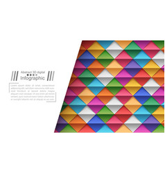 Paper origami style - paper background vector