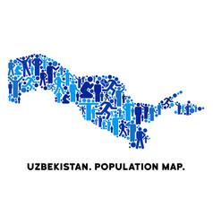 People uzbekistan map vector