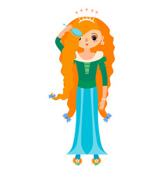 princess with comb for hair vector image