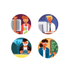 Professions set icons vector