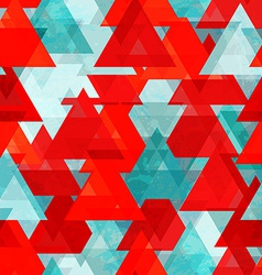 Red triangle seamless texture with grunge effect vector
