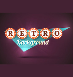 Retro sign background vector