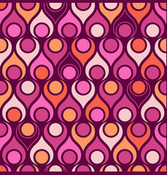 Seamless abstract midcentury modern pattern vector