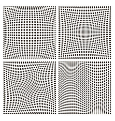 set dot pattern backgrounds various distortion vector image