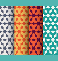 set of islamic geometrical pattern vector image