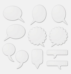 speech bubbles as white cardboard vector image