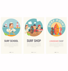 surf mobile apps vector image