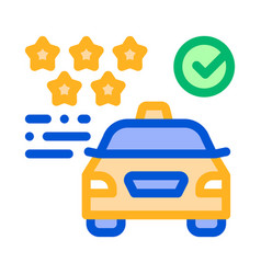 taxi service rating online icon vector image