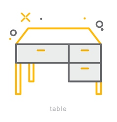Thin line icons Table vector