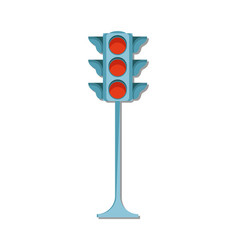 traffic light icon isolated vector image