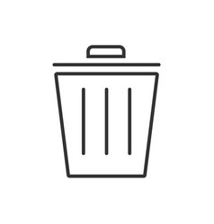 trash line icon on a white background vector image