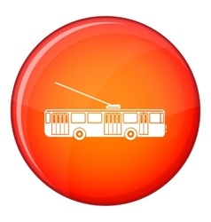 Trolleybus icon flat style vector