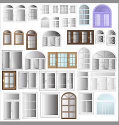 Windows plastic vector