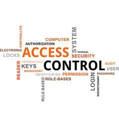 word cloud access control vector image