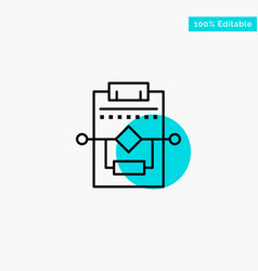 Workflow network process settings turquoise vector