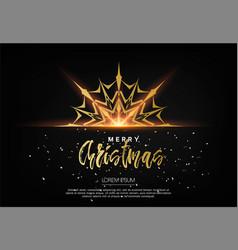 elegant christmas background with bhining gold vector image