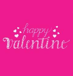 Happy Valentine with Brush Script vector image