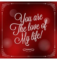 Holiday love valentine vector