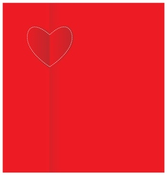 Paper heart valentine card vector image vector image