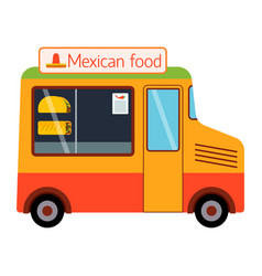 street food festival mexican trailer vector image