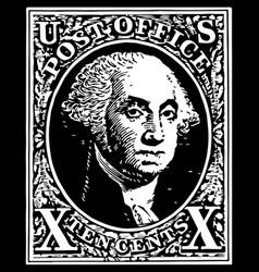 black washington 10 cent stamp vector image