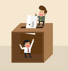 Businessman voting vector image vector image