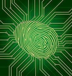 fingerprint electronics vector image