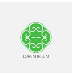 green geometrical symbol or logo for vector image