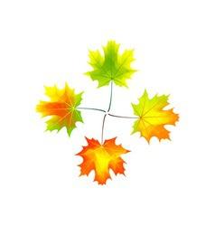 autumn cross vector image vector image
