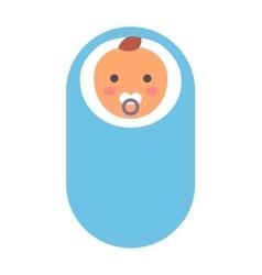 Baby kid in diaper vector