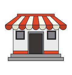 colorful image cartoon facade shop store vector image