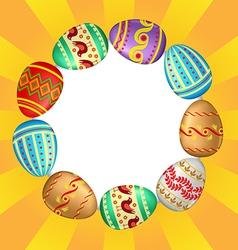 Eggs background vector