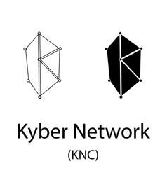 Kyber network black silhouette vector