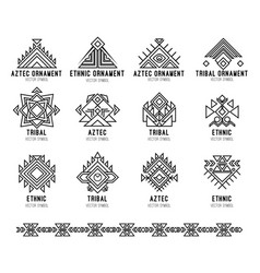native tribal icon set vector image
