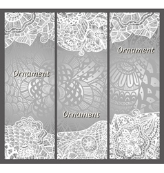 set of cards with patterns vector image vector image