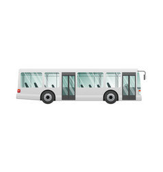 transport picture of isolated urban public bus vector image vector image