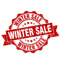 winter sale stamp sign seal vector image