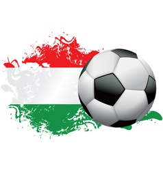 Hungary Soccer Grunge vector image vector image