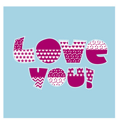love you letters vector image