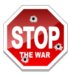 Stop the war vector image vector image