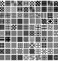 100 geometric seamless patterns set vector