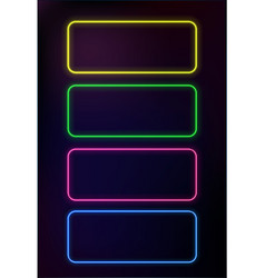 Abstract neon frame template on dark background vector