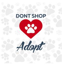 adopt logo dont shop adopt adoption concept vector image